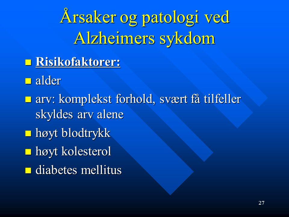Årsaker og patologi ved Alzheimers sykdom 26 Alzheimer hjerne Normal hjerne