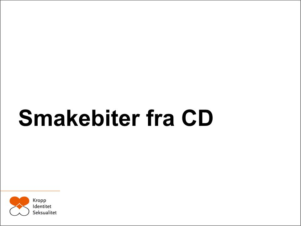 Smakebiter fra CD