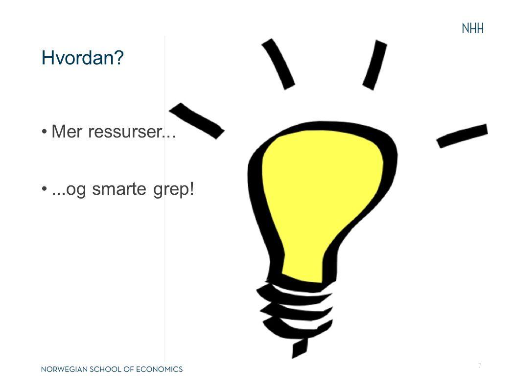 Hvordan? Mer ressurser......og smarte grep! 7