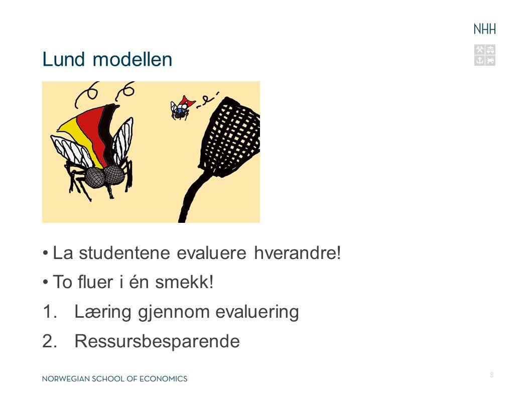 Lund modellen La studentene evaluere hverandre. To fluer i én smekk.