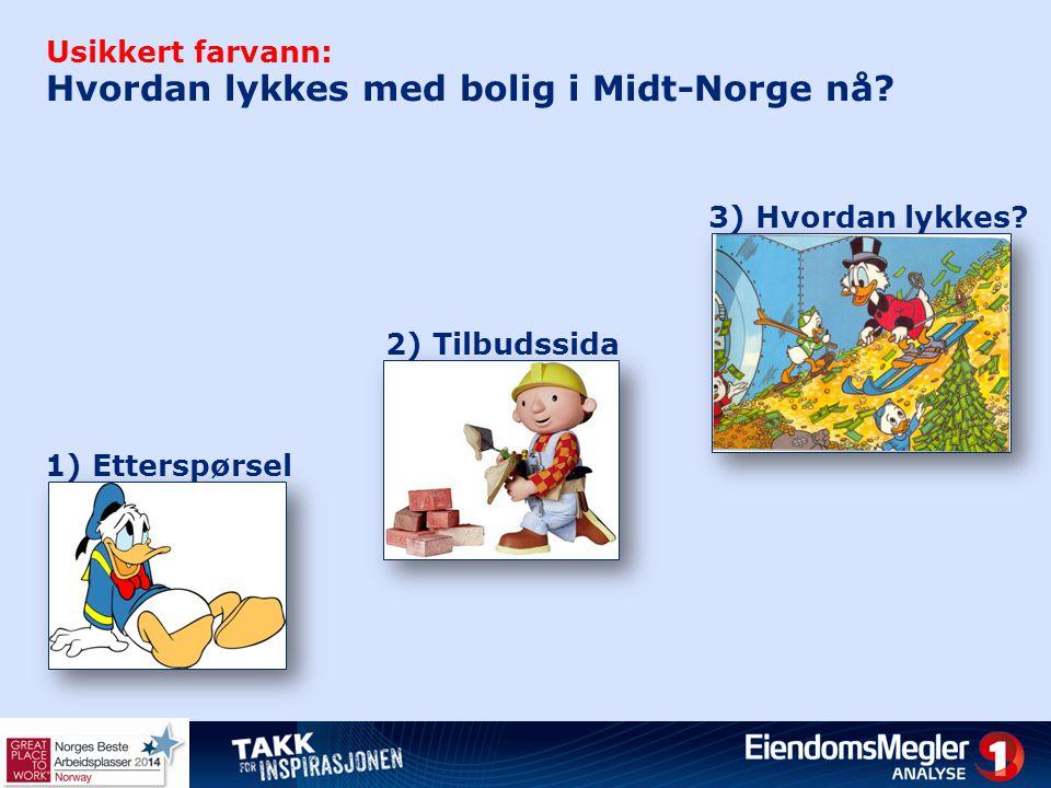 Usikkert farvann: Hvordan lykkes med bolig i Midt-Norge nå? 1) Etterspørsel 2) Tilbudssida 3) Hvordan lykkes?