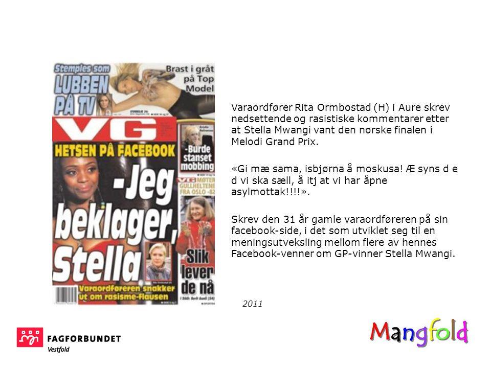 Varaordfører Rita Ormbostad (H) i Aure skrev nedsettende og rasistiske kommentarer etter at Stella Mwangi vant den norske finalen i Melodi Grand Prix.