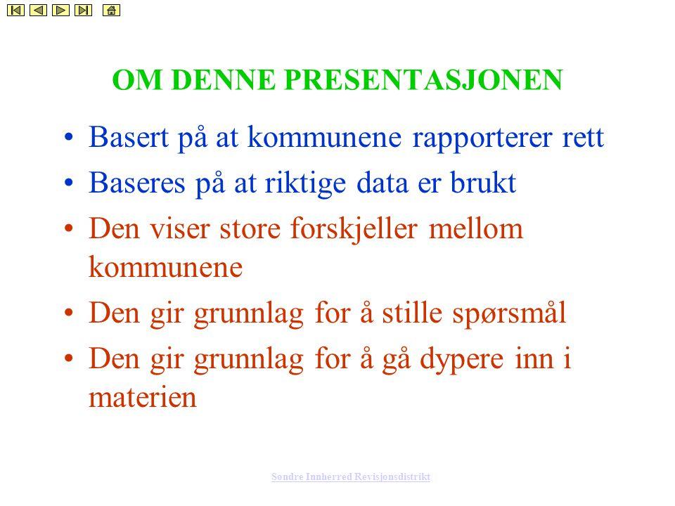 Søndre Innherred Revisjonsdistrikt Dekningsgrad barnehage