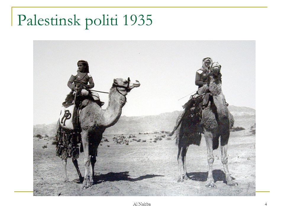Al Nakba 4 Palestinsk politi 1935