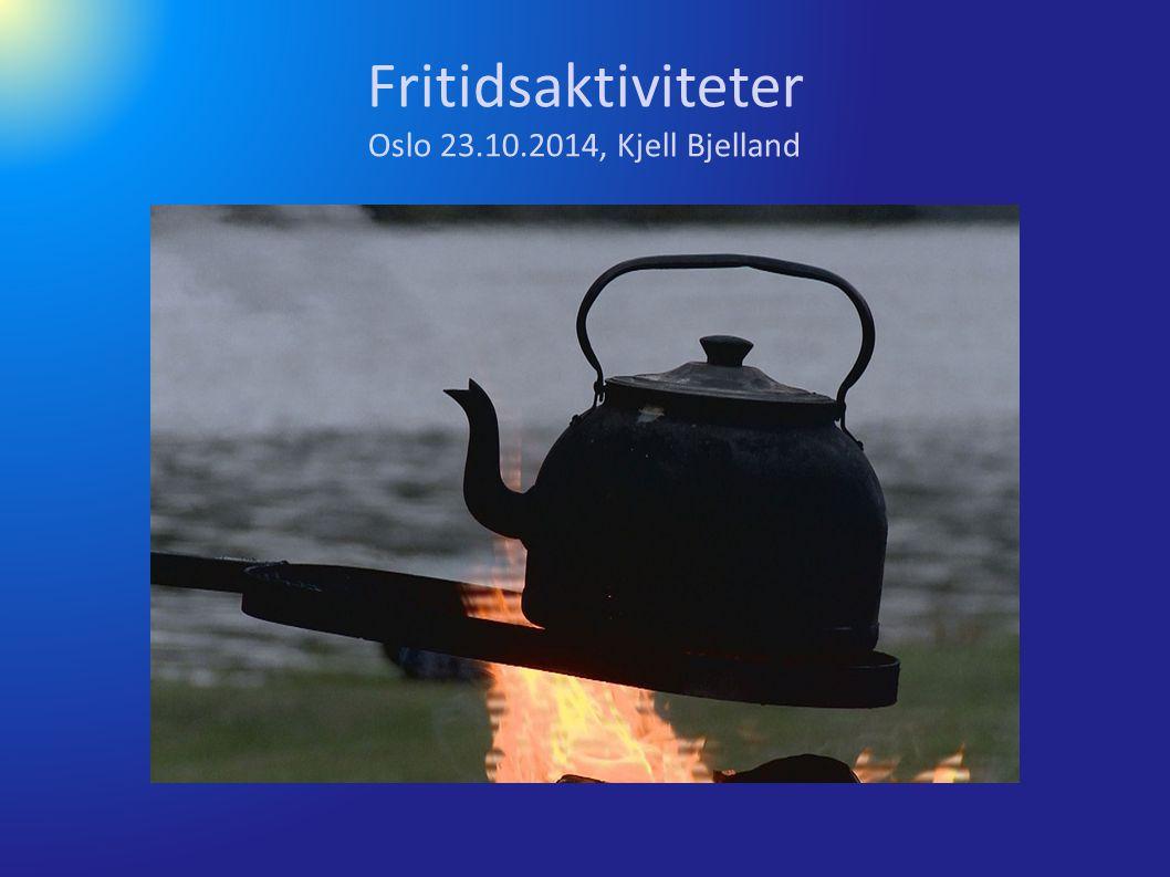 Fritidsaktiviteter Oslo 23.10.2014, Kjell Bjelland