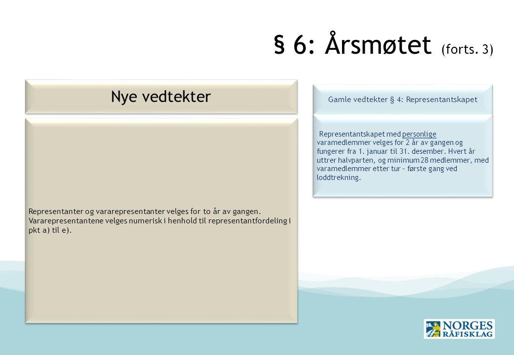 § 6: Årsmøtet (forts.