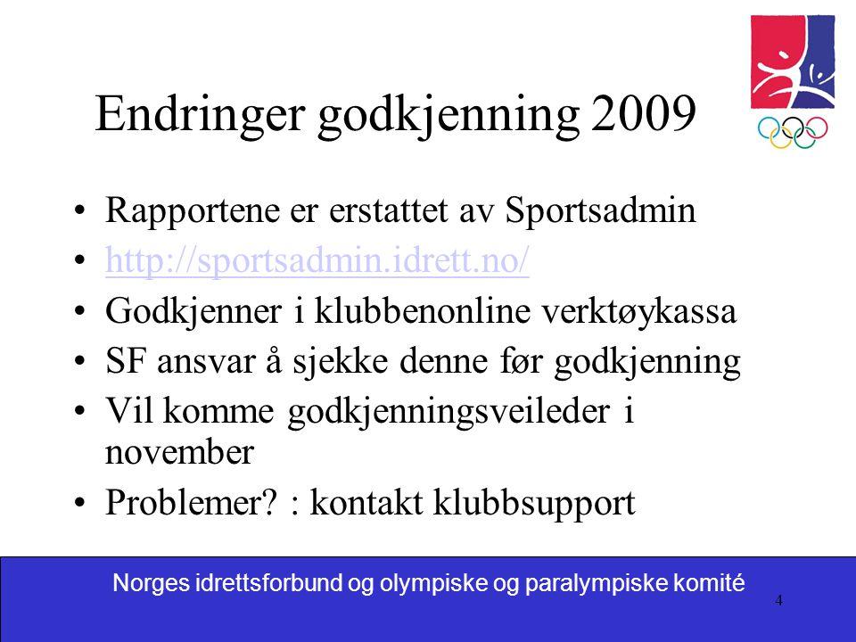 Norges idrettsforbund og olympiske og paralympiske komité 5 Unntak 2009 Kostnadskrevende utstyr kr 300 000 – 500 000 Mulig å søke opp mot 50 % støtte Dersom SF søker om dette, ikke godkjenn i SA på 33 %.