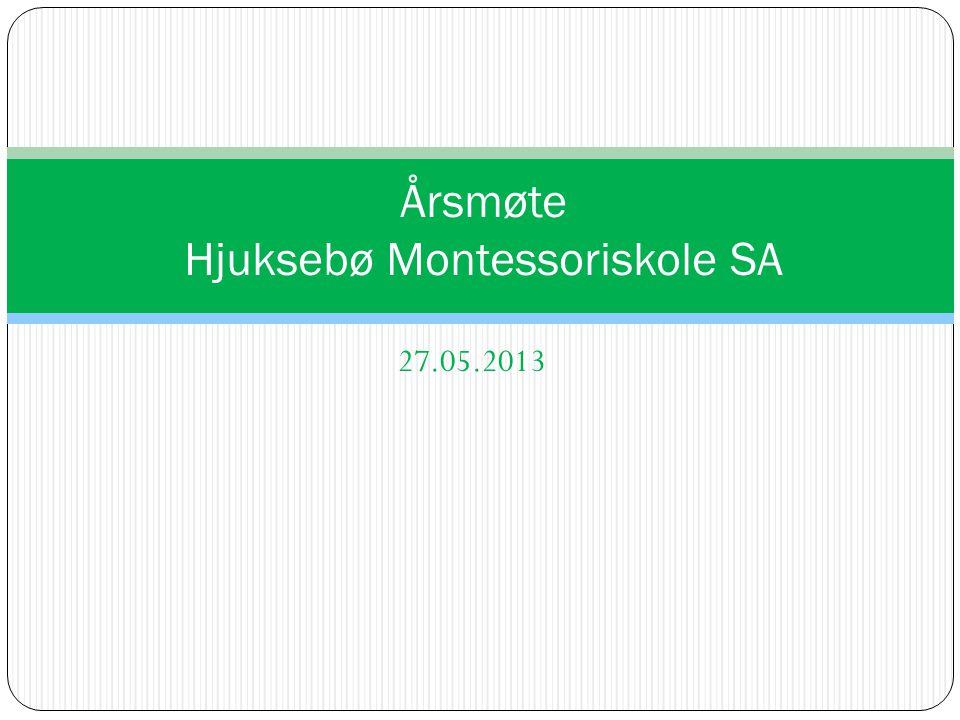 Montessoripedagogikken På sikt ønskelig med 100% montessoriepdagoger blant ansatte Bruke montessorimateriell aktivt, men første året blir et «pedagogisk overgangsår» Hjuksebø Montessoriskole-www.hjuksebomontessori.no