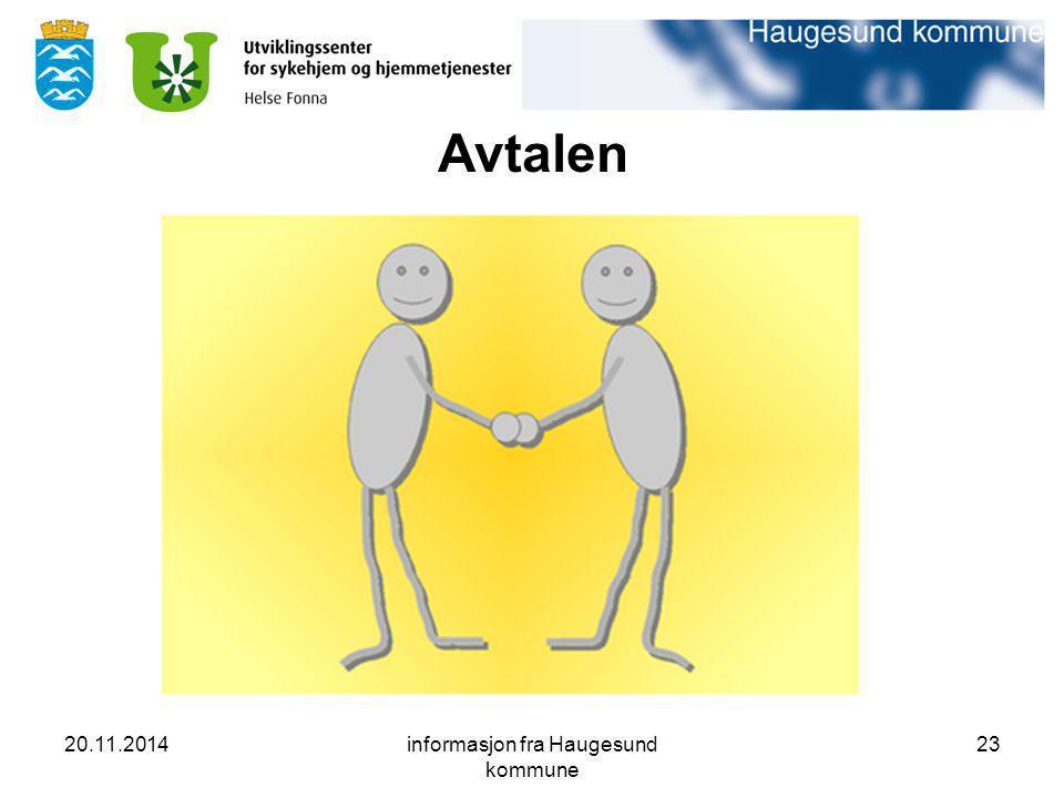20.11.2014informasjon fra Haugesund kommune 23 Avtalen