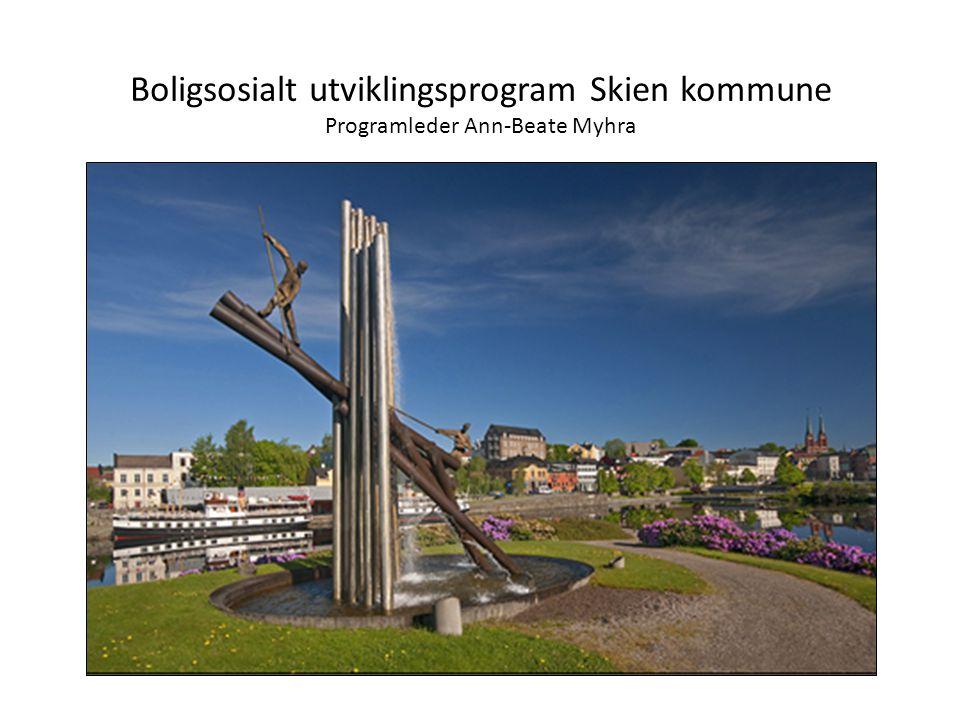 Boligsosialt utviklingsprogram Skien kommune Programleder Ann-Beate Myhra