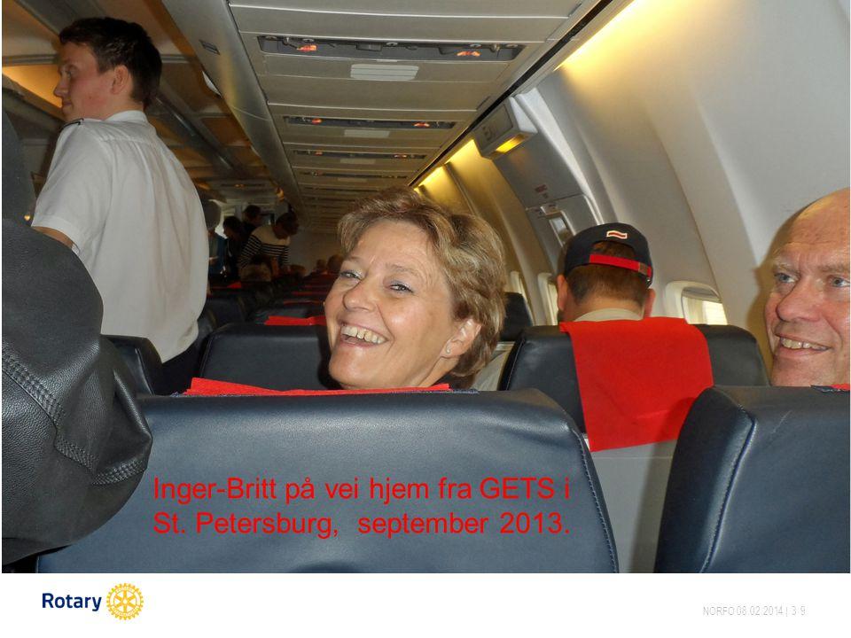 NORFO 08.02.2014 | 39 Inger-Britt på vei hjem fra GETS i St. Petersburg, september 2013.