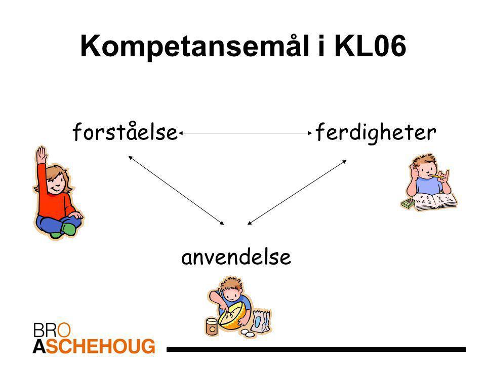 Kompetansemål i KL06 forståelse ferdigheter anvendelse