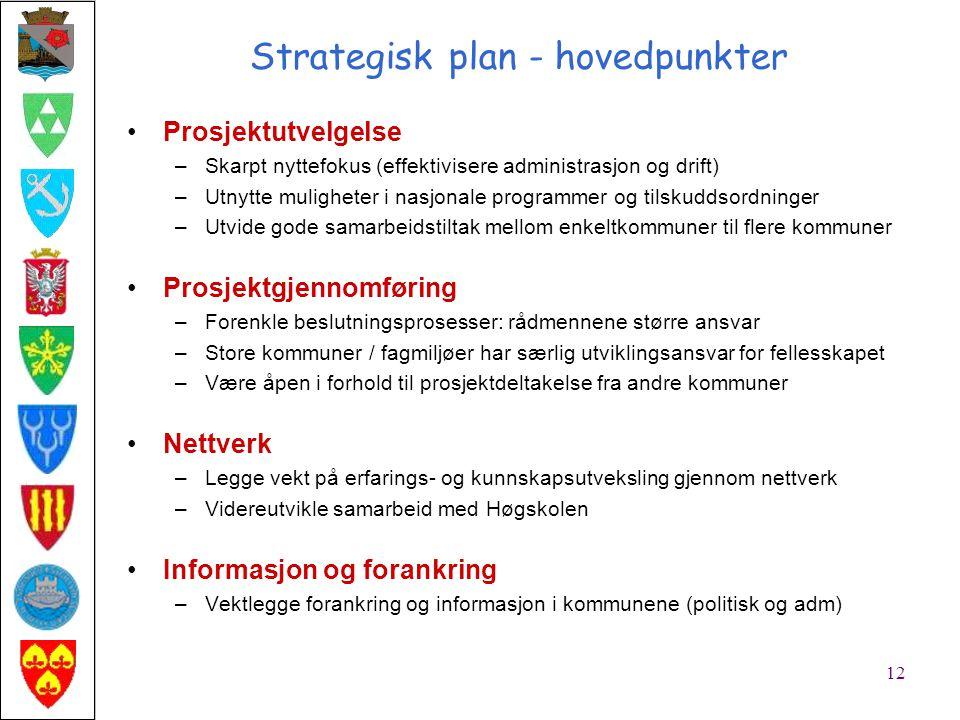 Oppfølging av strategisk plan