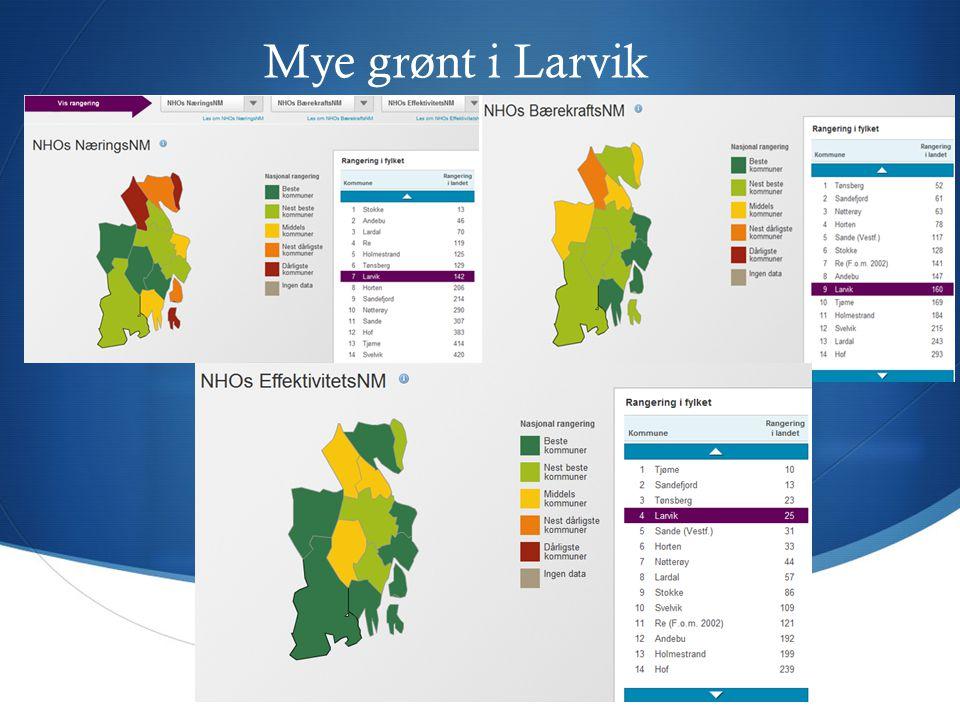 Mye grønt i Larvik