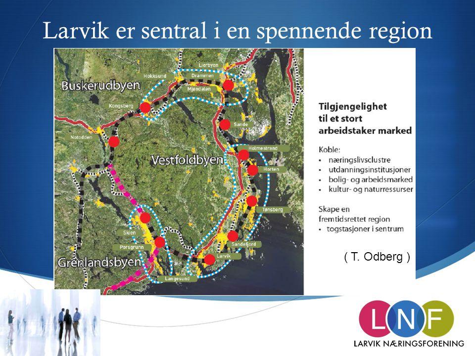 Larvik er sentral i en spennende region ( T. Odberg )