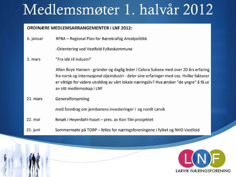 Medlemsmøter 1. halvår 2012