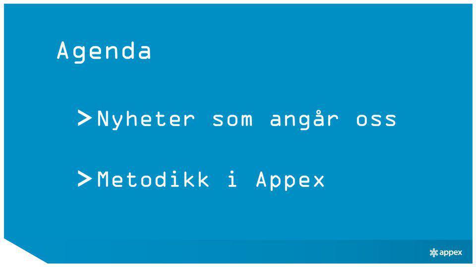 Agenda Nyheter som angår oss Metodikk i Appex