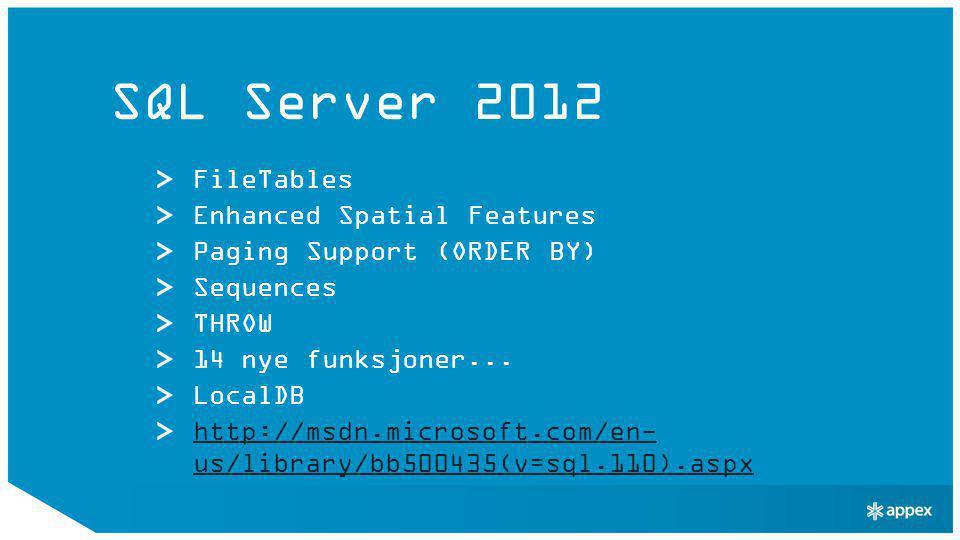 Windows Server «8» (Beta) IIS 8 Server Name Indication (SNI) Centralized SSL Certificate Support IIS CPU Throttling Application Initialization Dynamic IP Restrictions.NET 4.5 WebSockets (IIS ASP.NET 4.5 & WCF)