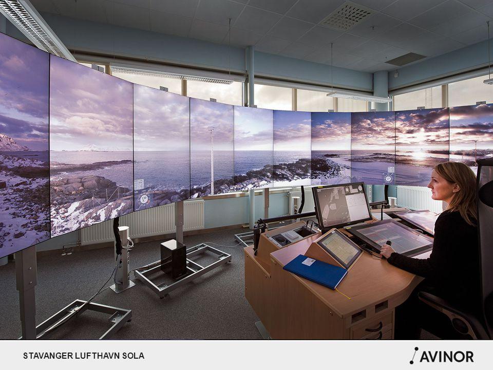 STAVANGER LUFTHAVN SOLA AVINORS VYER Avinors vyer (PP av Fjernstyrte tårn Bodø)