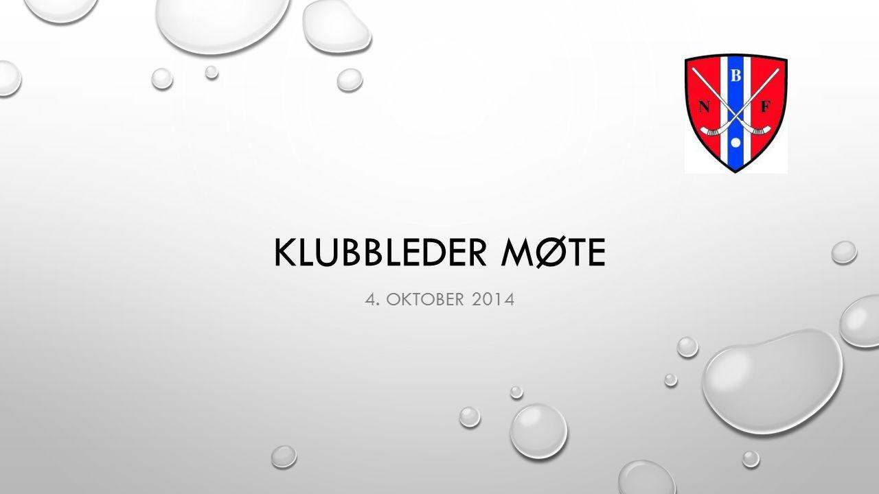 KLUBBLEDER MØTE 4. OKTOBER 2014