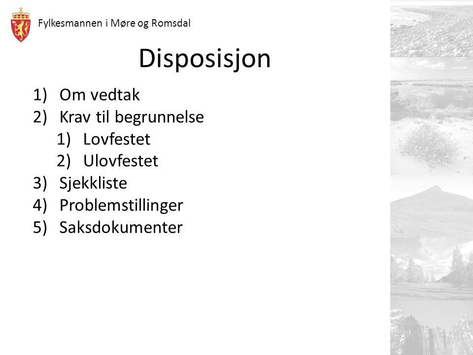 Fylkesmannen i Møre og Romsdal 13 Problemstilling… forts.