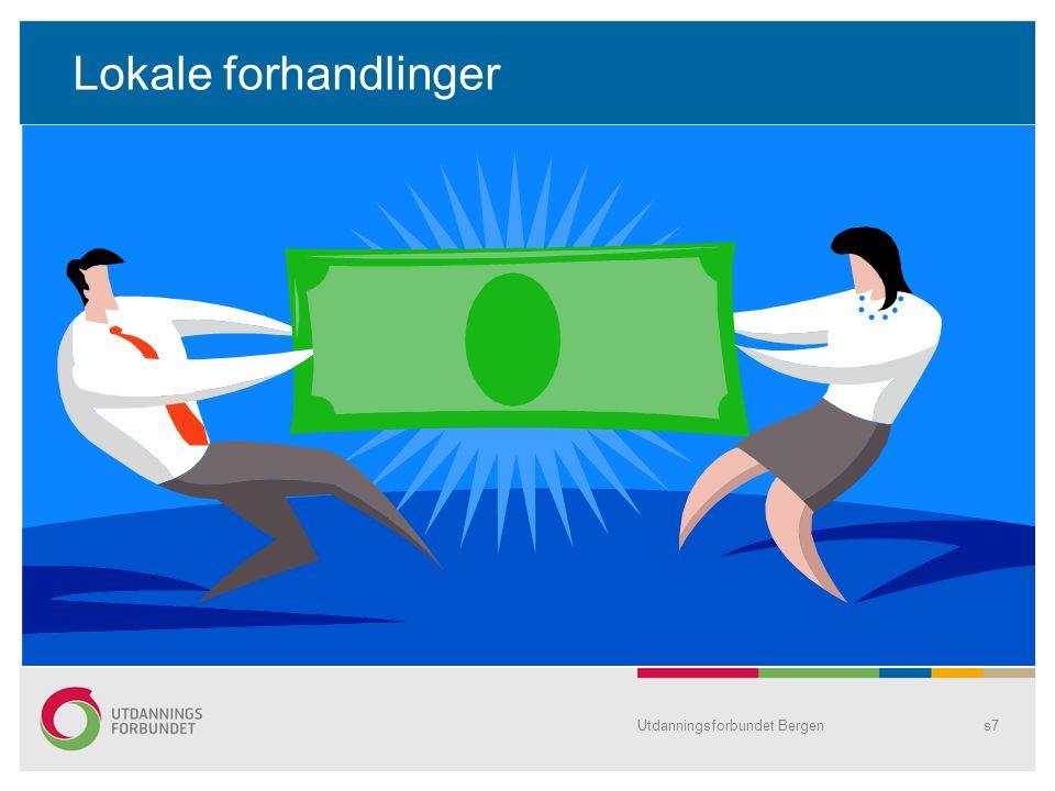 Utdanningsforbundet Bergens8 Utgangspunkt Tariff 2010 – avsatt til lokale forhandlinger –0,85% - pr 1.8.10 –0,25% - pr 1.1.11 Tjener du 400 000kr i året, er din andel av pro rata 4 400 kr……..