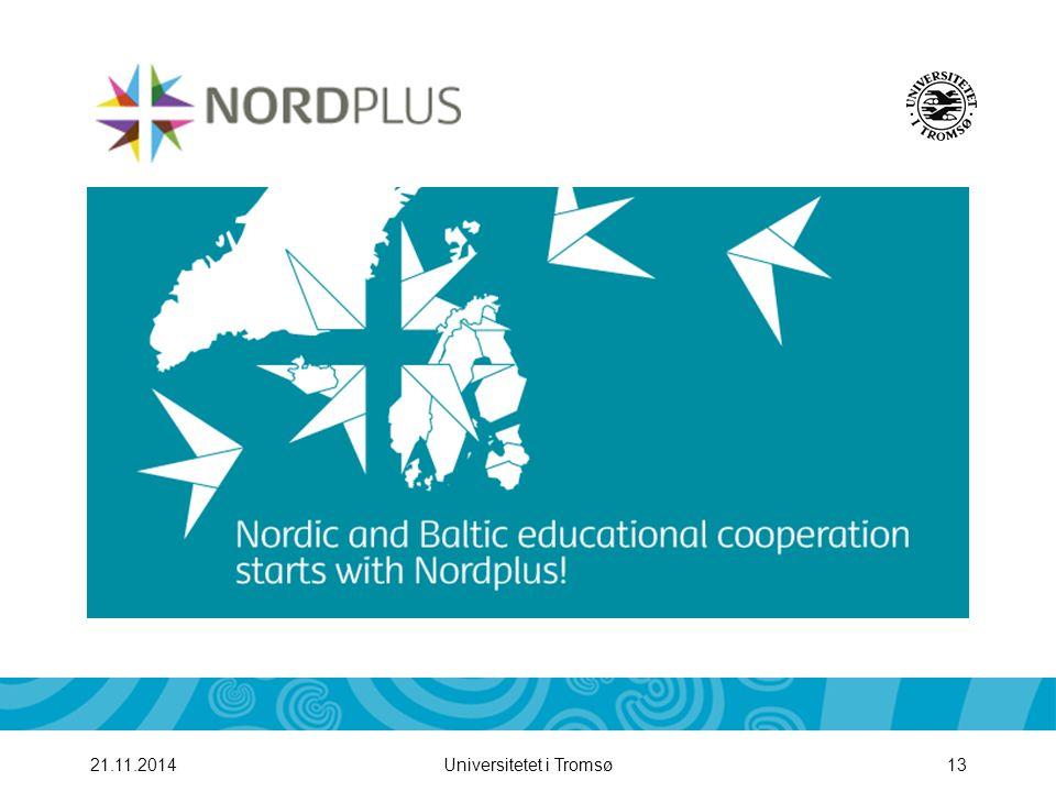 Universitetet i Tromsø1421.11.2014 Betingelser: 3-12 mnd opphold i utlandet Stipend: 200 EURO pr mnd (NOK 1600)