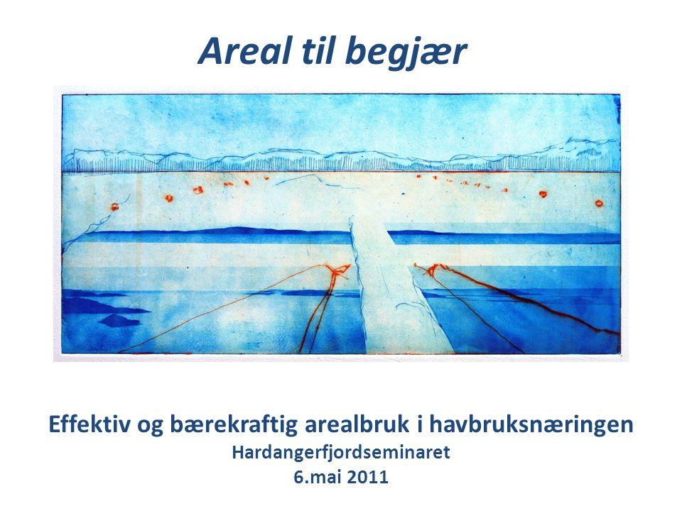 Effektiv og bærekraftig arealbruk i havbruksnæringen Hardangerfjordseminaret 6.mai 2011 Areal til begjær