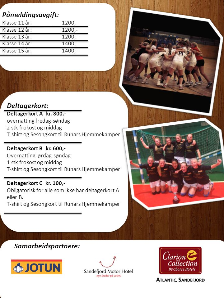 Turneringsreglement: Dette finnes på www.ilrunar.no Påmelding: www.ilrunar.no ved spørsmål kontakt: henriette_christiansen@hotmail.com