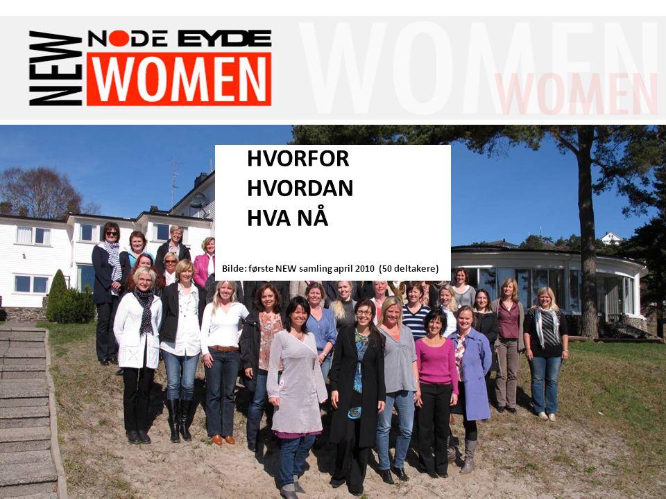 Felles Tenketank for NODE-Eydenettverket 15-16 April 2010 HVORFOR HVORDAN HVA NÅ Bilde: første NEW samling april 2010 (50 deltakere)