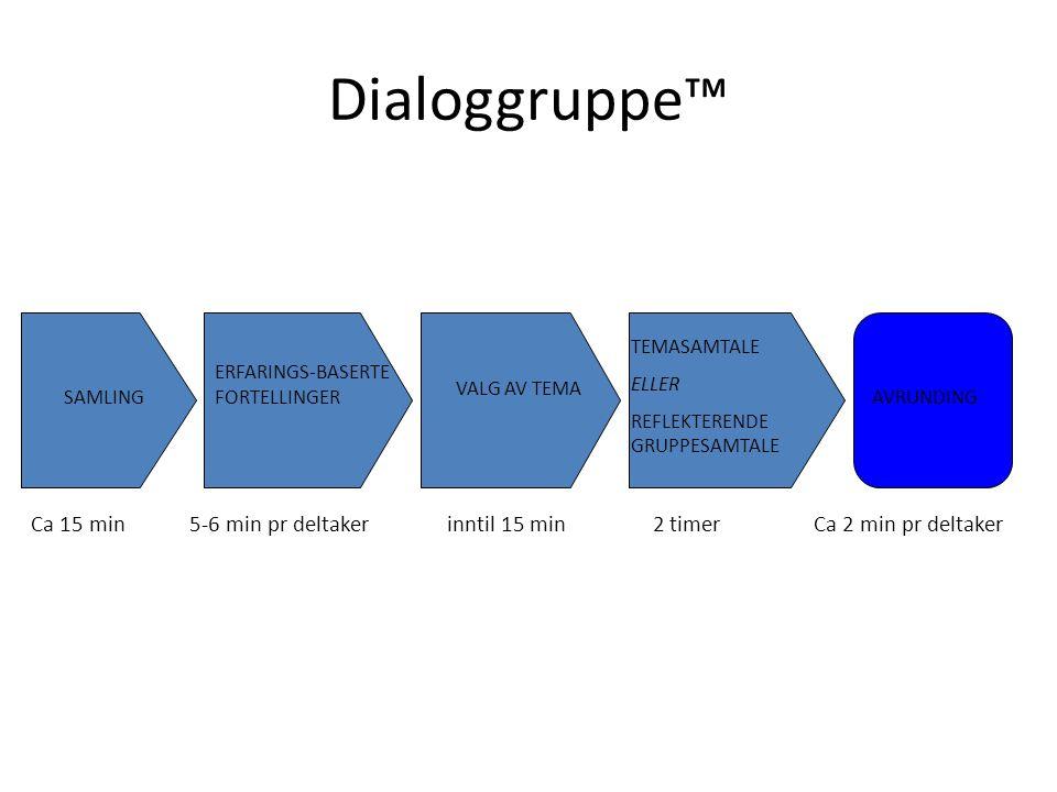 Dialoggruppe™ Et bidrag til forbedring av bedriftskulturen og til oppøvelse i etisk refleksjon.