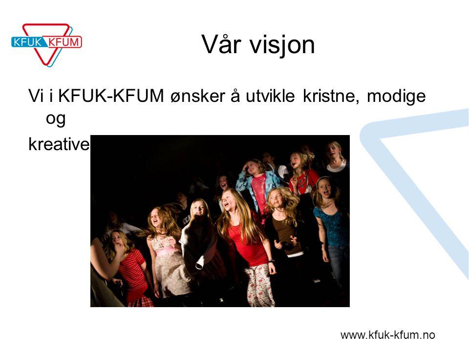 www.kfuk-kfum.no Vår visjon Vi i KFUK-KFUM ønsker å utvikle kristne, modige og kreative tweens!