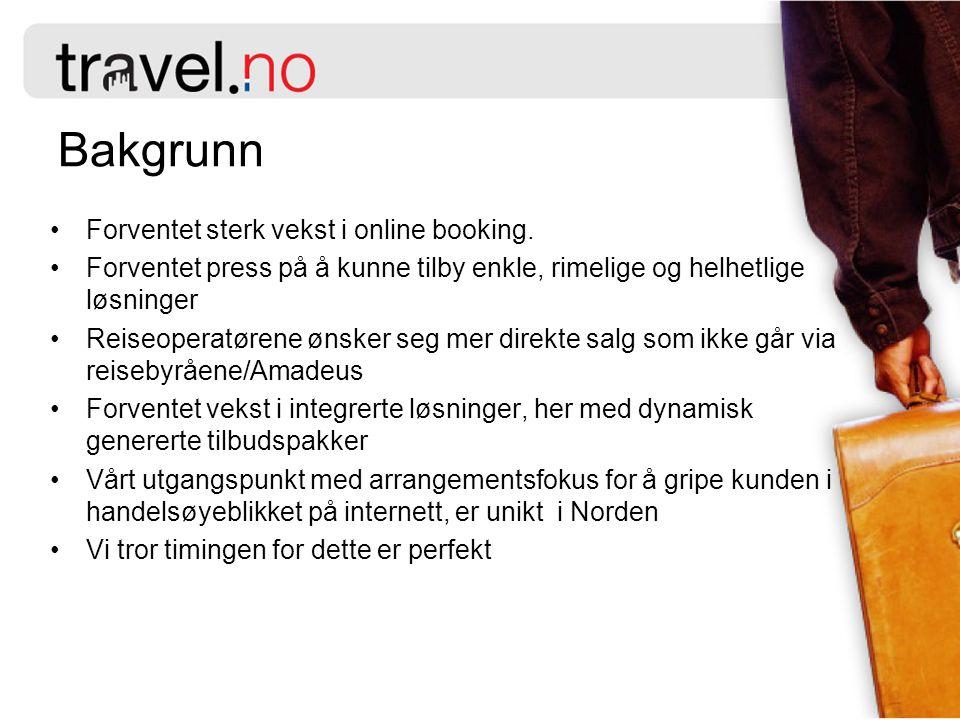 Grunnelementene Reise- operatører Arrangører Travel.no Portaler