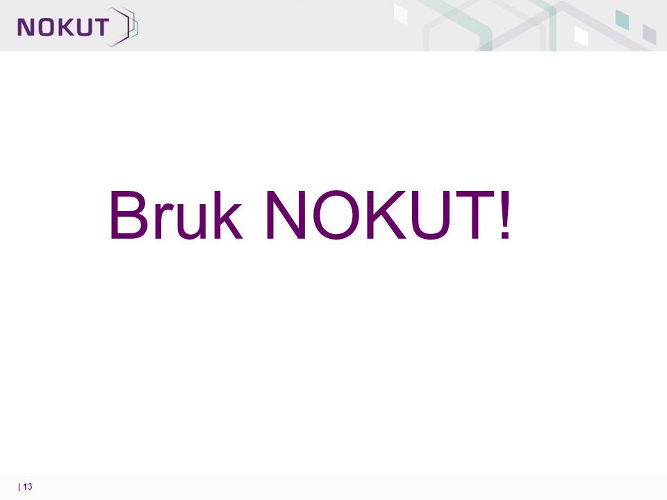 Bruk NOKUT! | 13