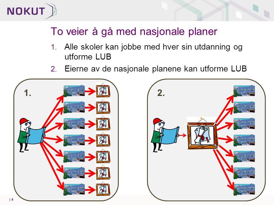 Formelle roller i NKR/LUB-utviklingen   5 Eier av utdanningene Ansvar for utdanningene o Ansvar for å utforme i tråd med NKR Bidra til kvalitet Kvalitetssikrer o Føre tilsyn o Godkjenner nye utdanninger 0 NUFHO