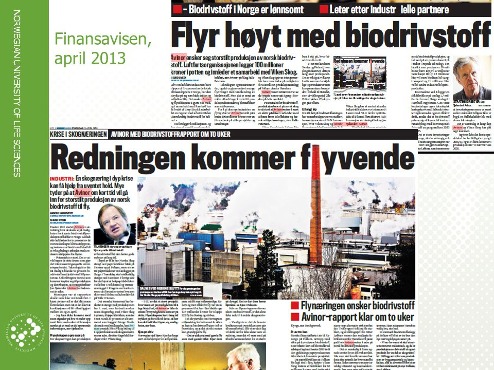 NORWEGIAN UNIVERSITY OF LIFE SCIENCES www.umb.no Finansavisen, april 2013