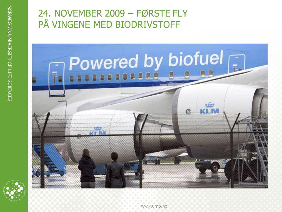 NORWEGIAN UNIVERSITY OF LIFE SCIENCES www.umb.no CASE FLYBENSIN I NORGE  Forbruket av flybensin i Norge er forventet å være 1000 mill liter i 2020  Utslippene fra innenriks flytrafikk utgjorde 1,3 millioner tonn CO 2 - ekvivalenter i 2011, eller rundt 2,5 prosent av de totale norske klimagassutslippene.