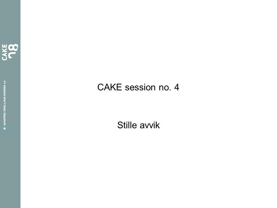 CAKE session no. 4 Stille avvik
