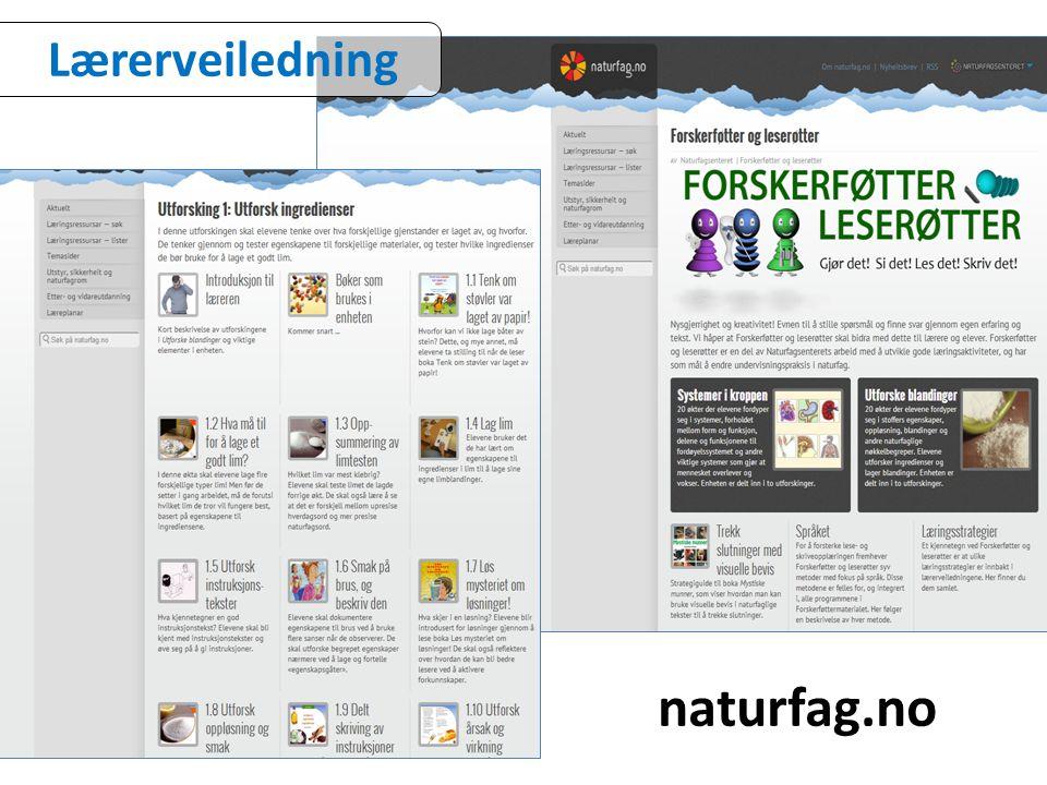 naturfag.no Lærerveiledning