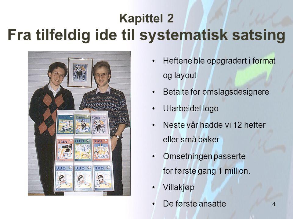 Kapittel 3 Fagbokforlaget blir til og får søstre Fra hefter til lærebøker.