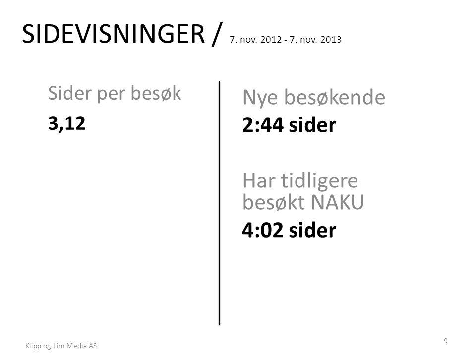 SIDEVISNINGER / 7. nov. 2012 - 7. nov.