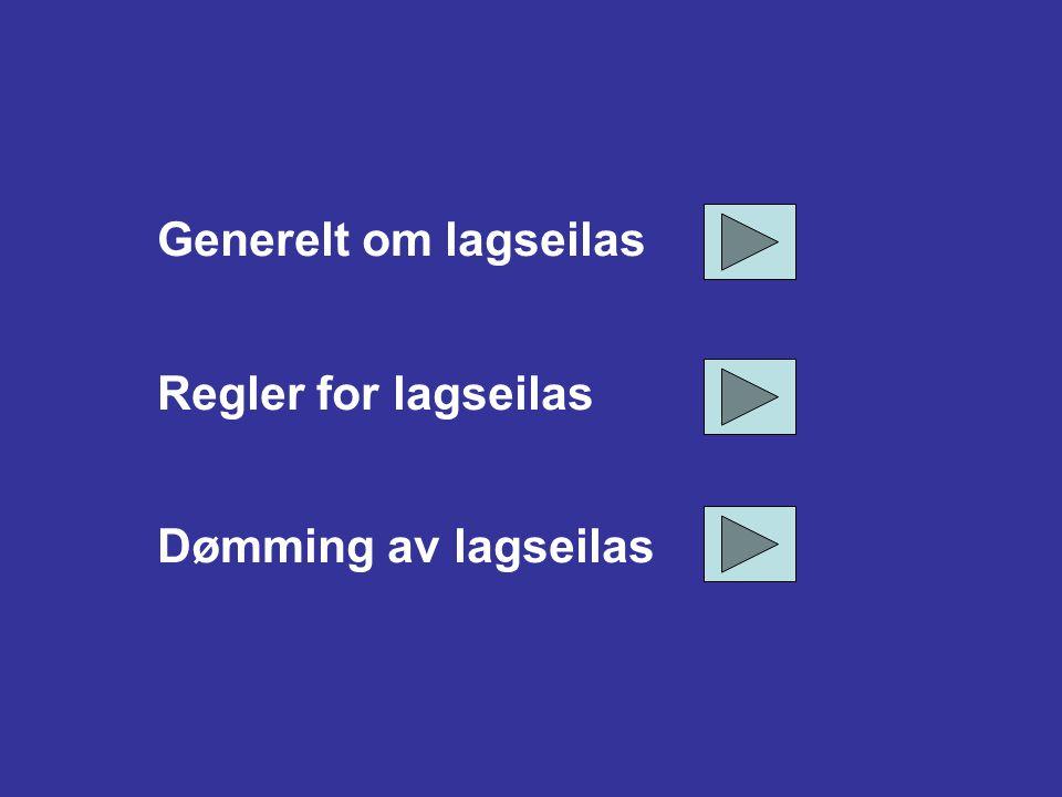 2-Krona Norge ISAFs Regler for lagseilas (RRS Appendix D) + litt om dømming på vannet (med illustrasjoner og animasjoner) , 2014 Tor