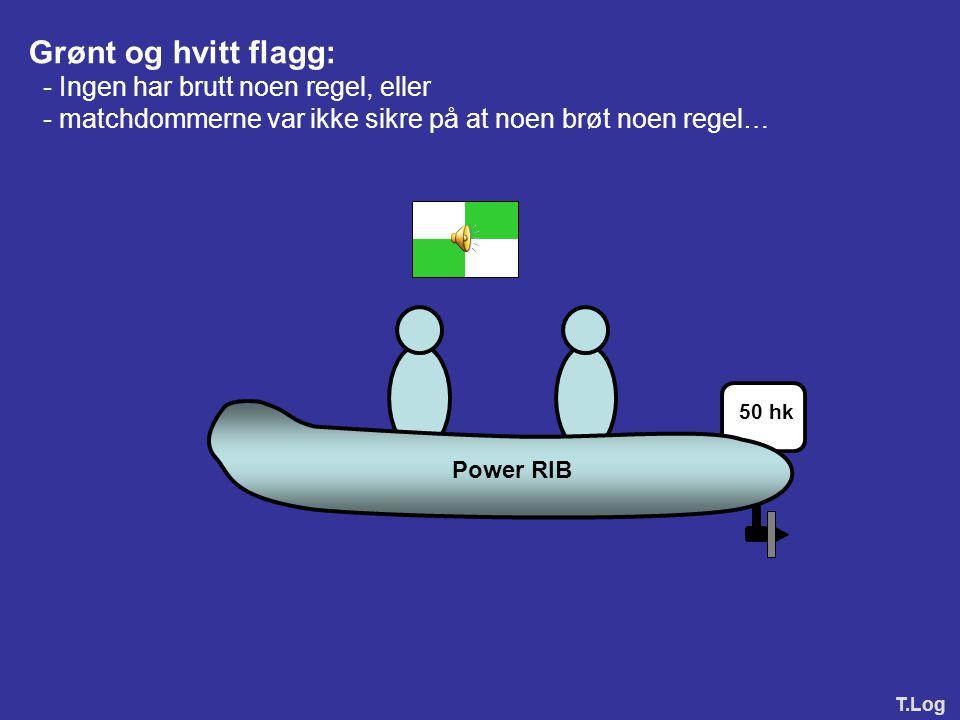 D2.4Signaler fra en matchdommer En matchdommer skal gi signal om en avgjørelse med et langt lydsignal og visning av flagg som følger: (a)For ingen str