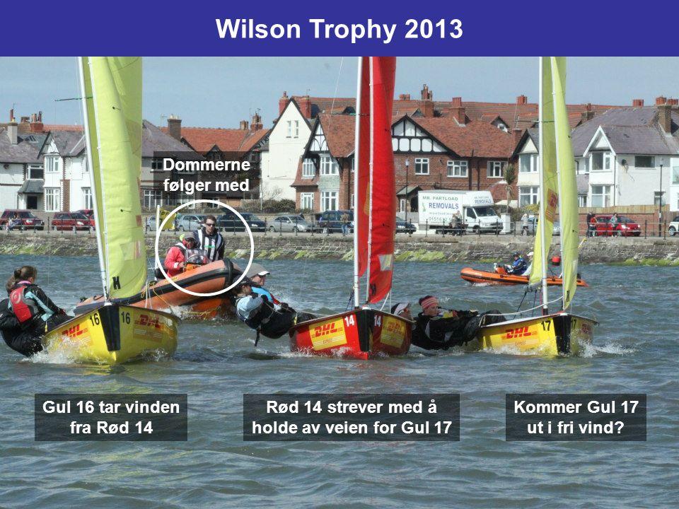 Lagseilas: I tomannsjoller, typisk: –3 båter på hvert lag. To lag seiler mot hverandre, her gult og grønt –Eks: Båt nr 2, 3 og 5 i mål (sum 10) slår b