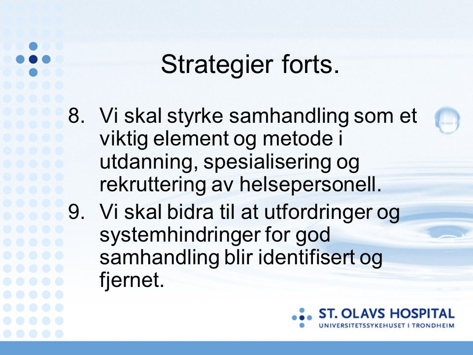 Strategier forts.