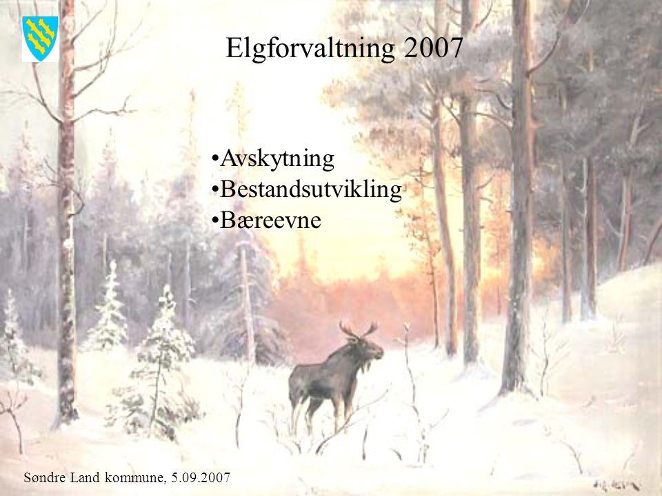 Søndre Land kommune, 5.09.2007 Fellingsresultat 2006