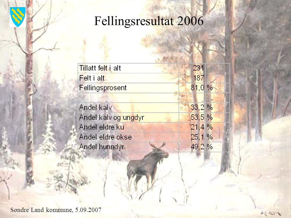 Søndre Land kommune, 5.09.2007 Tillatt felt og felt