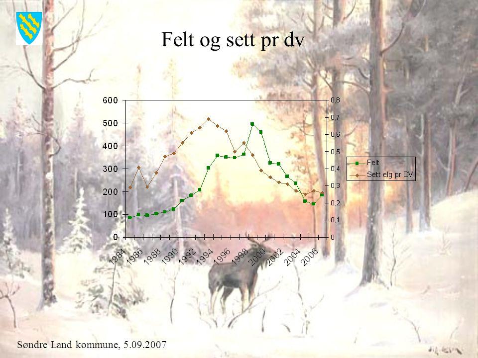 Søndre Land kommune, 5.09.2007 Felt og sett pr dv