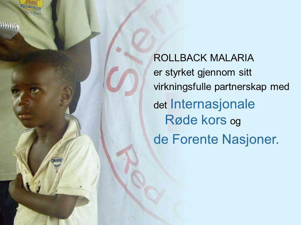 ROLLBACK MALARIA er styrket gjennom sitt virkningsfulle partnerskap med det Internasjonale Røde kors og de Forente Nasjoner.