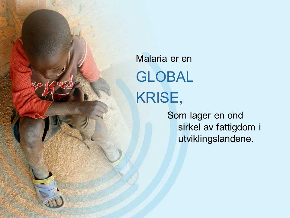Malaria er en GLOBAL KRISE, Som lager en ond sirkel av fattigdom i utviklingslandene.